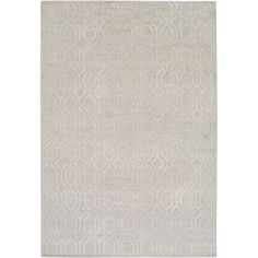 Surya Belvoire Light Gray Hand Knotted Linen Rug @Zinc_Door