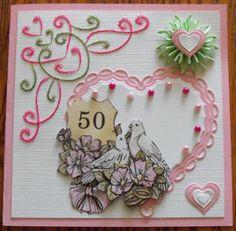 Kaart voor een 50 jarig huwelijks verjaardag gemaakt