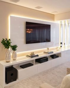 Latest Modern TV Unit interior designs Modern Tv Room, Modern Tv Wall Units, Modern Living, Luxury Living, Minimalist Living, Home Room Design, Home Interior Design, House Design, Luxury Interior