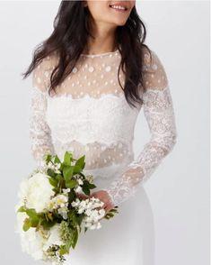 Wedding Dress Trends, Wedding Suits, Wedding Dresses, Perfect Wedding Dress, Wedding Looks, Bridal Tops, Tadashi Shoji, Bridal Fashion Week, Lace Crop Tops