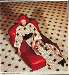 #Marazzi #70s   Tile design by Biki   Alta Moda Collection   Quadrato rosso   Advertising image