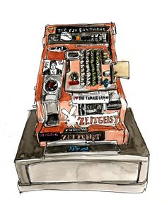 Zeitgeist Cash Register Print (from Meanwhile, Mission Bartenders). $25.00, via Etsy.
