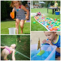 Beat the heat with this collection of water games & activities for kids! Educational Activities For Kids, Outdoor Activities For Kids, Summer Activities For Kids, Water Activities, Fun Crafts For Kids, Summer Kids, Art For Kids, Volcano Activities, Kids Fun