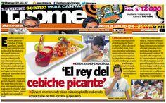 Nota de prensa en el diario Trome para nuestro cliente la cadena de restaurantes Puerto Norte