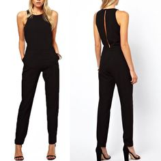 New Women's Summer Sleeveless Bodycon Jumpsuit Romper Trousers Playsuit Clubwear Bodycon Jumpsuit, Casual Jumpsuit, Playsuit Romper, Summer Jumpsuit, Romper Pants, Black Jumpsuit Outfit, Yellow Jumpsuit, Short Jumpsuit, Pant Jumpsuit