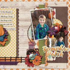 Pumpkin Patch - Scrapbook.com | credits:  He Loves Autumn {Bundle} by Digilicious Design