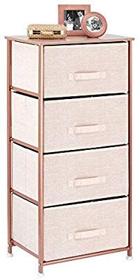 Amazon Com Mdesign Vertical Dresser Storage Tower Sturdy Steel