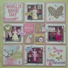 World Book day 2015 project life layout using Simple Stories Enchanted collection from Www.craft-island.co.uk