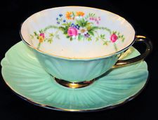 SHELLEY OLEANDER PASTEL TEA CUP AND SAUCER DUBARRY