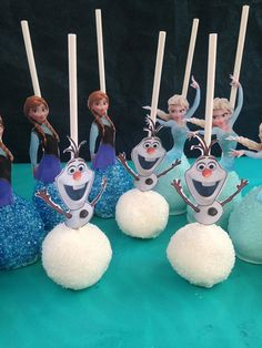 Frozen Cake Pops Elsa Anna and Olaf Cake Pops by BangPOPshop
