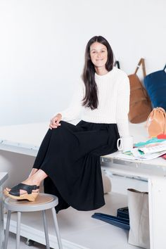Baggu�s Cool-Girl Founder Shows Us Her Studio  #refinery29 photographed by Maria del Rio.