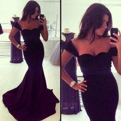 Elegant Black Off Shoulder Dress