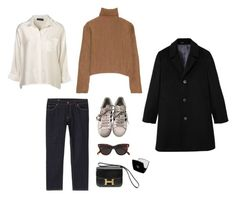"""""""set 050"""" by toimoisoi ❤ liked on Polyvore featuring adidas, MANGO, CÉLINE, Hermès and Chanel"""