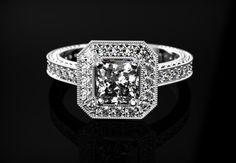 White Gold White Sapphire Engagement Ring White Gold White Sapphire White Gold WhiteGold White Sapphire Ring Diamond Alternative White Gold