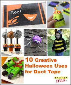10 Fun Halloween Uses for Duct Tape | http://blog.officezilla.com/10-more-duct-tape-ideas-halloween