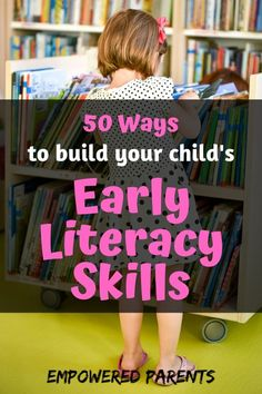 Early literacy development is so important during the toddler and preschool years. Here are 50 everyday activities you can do to build those skills. Educational Activities For Preschoolers, Pre Reading Activities, Preschool Literacy, Literacy Skills, Early Literacy, Literacy Activities, Everyday Activities, Homeschooling Resources, Literacy Quotes
