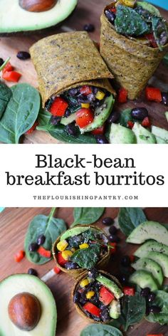 Black bean breakfast burrito. Say that five times really fast. Right old tongue twister. And actually twist is exactly what this is, because as beautiful as all those smoothies and porridges and oats are on my socials, I really want something new for breakfast. So I spotted these on Pinterest and thought YES. It doesn't involve oats, or a nutribullet and it's savoury. This is my kind of breakfast. Vegetarian, vegan, gluten free and dairy free recipe for breakfast.
