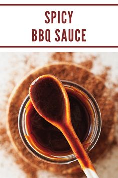 Easy, homemade spicy bbq sauce is the perfect addition to pizza, sandwiches, and burgers! Easy Bbq Sauce, Homemade Bbq Sauce Recipe, Barbeque Sauce, Sauce Recipes, Barbeque Sides, Homemade Ketchup, Bbq Sauces, Vegetarian Grilling, Healthy Grilling Recipes