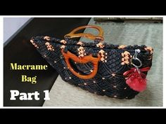 How to make Macrame Bag in professional way   PART 1 - YouTube
