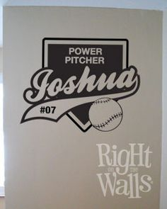 Customized Baseball Homeplate Vinyl Wall Art Decal - Possibility for a baseball nursery?