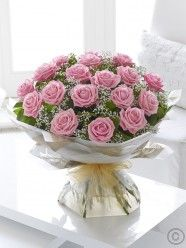 Sending a a bouquet of beautiful roses says it all. And you can relax in the knowledge that your Interflora florist will select the finest, large-headed pink roses to create a hand-tied bouquet guaranteed to take their breath away. Bride Flowers, Mothers Day Flowers, Send Flowers, Bunch Of Flowers, Bouquet Flowers, Bouquets, Dublin, Corporate Flowers, Flower Delivery Service