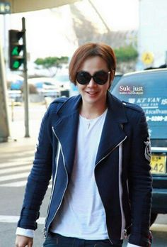 The Eels Family Official Bulletin: [Pics - New photos of JKS returning to Korea Incheon airport Jang Geun Suk, Incheon, My Prince, Pretty Face, Kdrama, Leather Jacket, Singer, Actors, Blazer