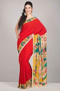 Kalamkari Kraft: Sarees by National Awardee M Vishwanath Reddy - Home Page Display