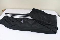 ADIDAS men  pants (XL)  black 100% polyester pre-owned EUC #adidas