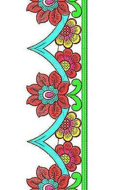 Embroidery Belt Border Lace Design