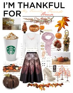 """""""What I Am Thankful For"""" by kykyfaith on Polyvore featuring Miss Selfridge, Versace, Ted Baker, Michele, Pinup Couture, Sur La Table, Improvements, Department 56, Casetify and imthankfulfor"""