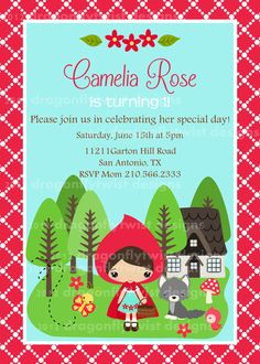 Little Red Riding Hood invite - Pesquisa Google