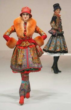 russian fashion...I actually like the colors of the outfit in the back better