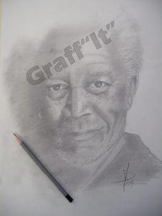 Portrait crayon graphite