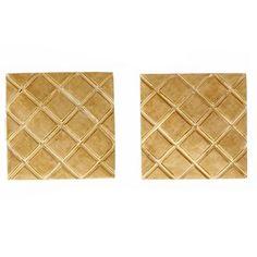 Square Gold X Design Cufflinks | See more rare vintage Cufflinks at https://www.1stdibs.com/jewelry/cufflinks/cufflinks