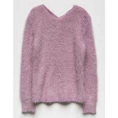 Woven Heart X Back Fuzzy Girls Sweater (465 MXN) ❤ liked on Polyvore featuring tops, sweaters, long sleeve sweater, extra long sleeve sweater, purple sweater, heart sweaters and fuzzy sweater