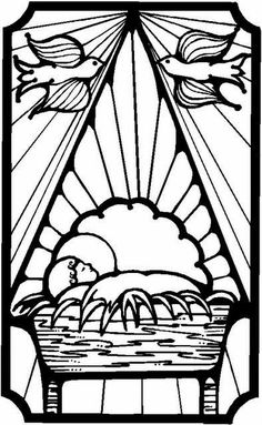 wk 2 baby jesus coloring page