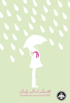 Personalized BABY SHOWER UMBRELLA. Girl, Boy or Neutral. Guest book alternative. 13x19. StudioLO2011