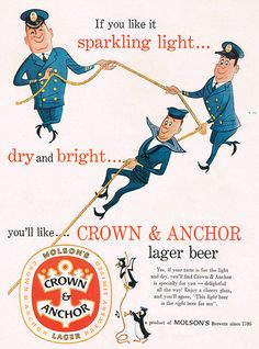 If you like it sparkling light, dry and bright... #beer #vintage #food #ad #1950s