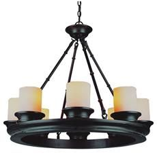 (22Hx29W) $265 + 15% off + free shipTrans Globe Lighting 3368-ROB The Olde World 8-Light Chandelier in Rubbed Oil Bronze