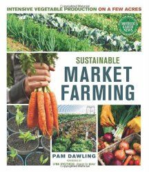 Review: Sustainable Market Farming, Pam Dawling, market gardening, how to sell at farmer's market, beginning, starting a CSA, kitchen, answers to, how to grow veggies, vegetables, tomatoes, potatoes, lettuce