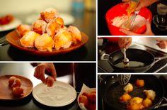 De délicieux croustillons (beignets au sucre) faits maison!