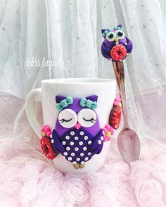 Polymer clay mug set