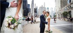 Katy & Karl married in a intimate #GardenTheme ceremony at the Art Institute of Chicago.  Photos by Vrai Photography