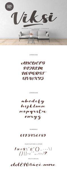 Viksi is a modern script font.