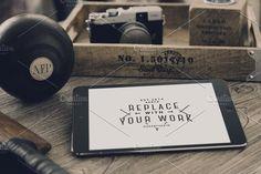 Hip iPad Mock-up by Madebyvadim on @creativemarket