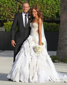 It is unfair for someone to look this beautiful in a wedding dress! Love!