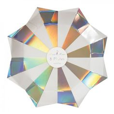 Holographic Starburst Plates by Meri Meri