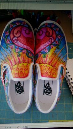 Amazing sharpied shoes I love these :~D