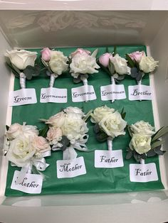 Mother And Father, Boutonnieres, Groomsmen, Grooms
