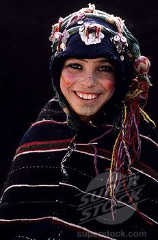 Africa | Morocco, Haut Atlas, Imilchil, young Berber girl of Ait Haddidou tribe during the Wedding Moussem (festival)   | © Hemis.fr